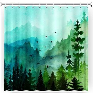 Other - Watercolor Forests Woods Shower Curtain